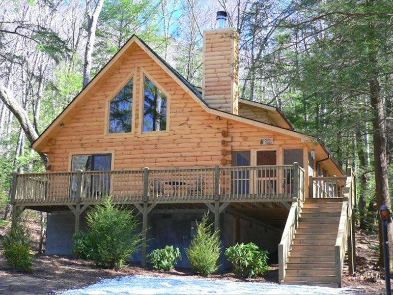 Cabin branch log home retreat mt mitchell blue ridge for Cabin branch homes