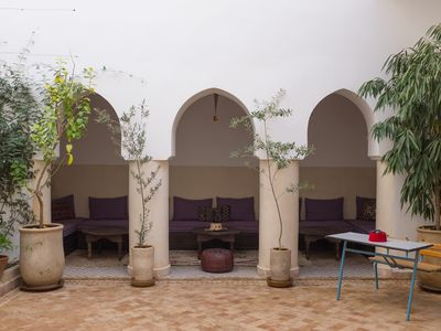 Photo for Boutique Luxury Riad in the Media - 4 en-suite bedrooms, just renovated!