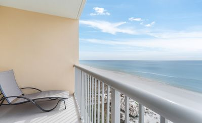 Photo for New Listing! Romantic oceanfront studio w/private balcony! Fitness center, WiFi!