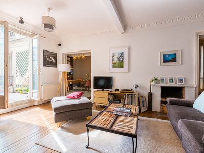 Photo for 2 BR with charming interior and terrace. By the Canal Saint Martin (Veeve)