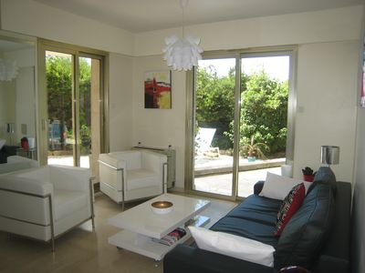 Photo for Holidays & Congress 50m Apartment 5 pers. Croisette Cannes Garden Parking Wifi