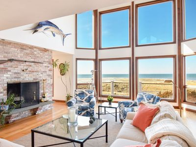 Photo for #525: Beachfront on Private Beach, secluded, sweeping views of the Cape Cod Bay!