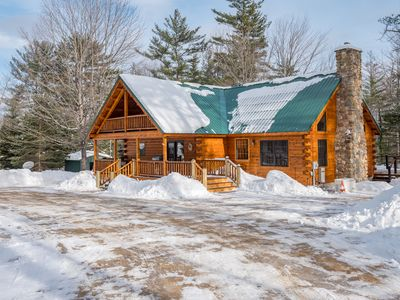 Photo for Beautiful Authentic Log Cabin located 5 minutes from Bethel, 15 minutes to Sunday River
