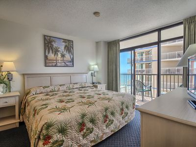 Photo for Beautiful 2 Bedroom Ocean View Condo + Official On-Site Rental Privileges