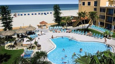 Photo for ON THE BEACH, CLASSIC UNIT! POOL, TIKI BAR, HOUSEKEEPING!