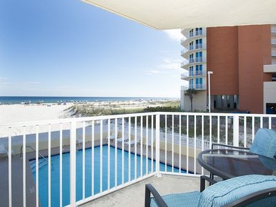 Photo for Remodeled 2BR Beachfront Condo w/ Gulf Views, Pool & Private  Balcony
