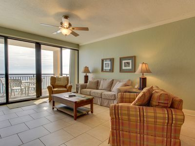 Photo for NEW LISTING! Gorgeous waterfront condo w/shared pool, fitness room & sport court