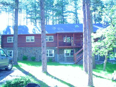 Photo for 5 Bedroom Log Cabin In The Heart Of The Black Hills Located In Boulder Canyon.
