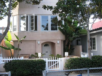 Photo for Single Family 3 BR, 2 BA Mission Beach House on Quiet Court-Steps to Blue Sea!