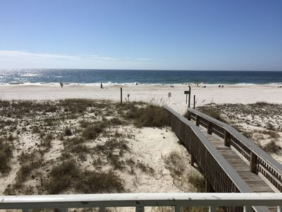 Photo for Cozy Gulf Front 2ND Floor 2br2ba Condo -Closed Beach Discount-Enjoy Private Deck