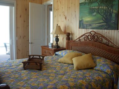The East Master Bedroom at Kokomo - with King Bed & great beach view.