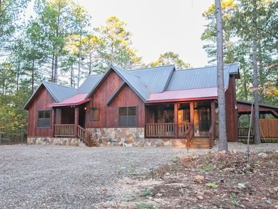 Photo for Mountain Couples Cabin (1+ Bedrooms, Creek Overlook, Private Hot Tub, Upscale)