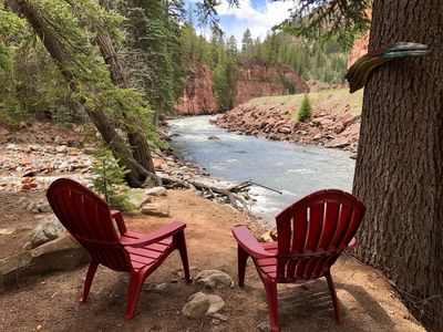 Photo for Cozy Mountain Cottage with Fireplace On The Crystal River with Private Fishing!