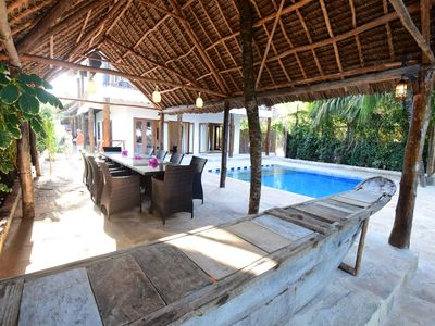 Photo for Villa Tumaini - 5 bedroom Beach Front Villa with a pool