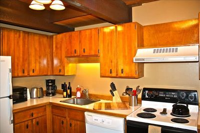 Remodeled kitchen- very well stocked with all the comforts of home!