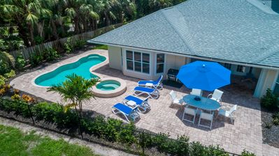 Photo for NEW LISTING...Families love our beach house - Pool, Spa, Beach, Super Kitchen!!