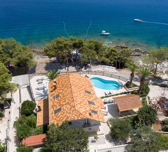 Photo for Beach front villa Puntinak for up to 14 people private pool Beachfront