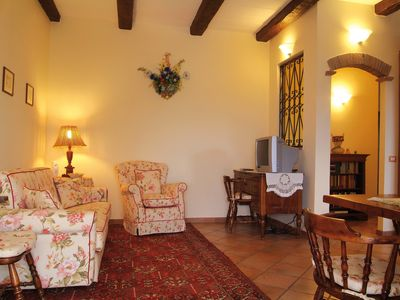 Photo for Apartment in a stone farmhouse of 1700 with swimming pool and panoramic terrace!