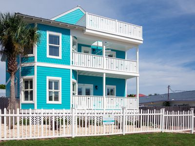 Photo for Book Fall Now! 7 Master Bdrms~Pool Free Golf Cart~90 Yards to Beach!