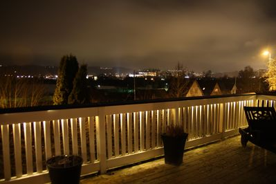 Evening view over Vejle city