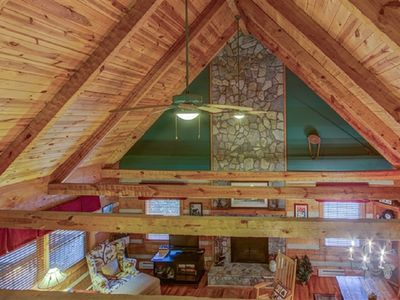 Photo for Great Cabin with incredible location! Hot tub, fireplace & beautiful setting.