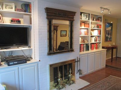 Living Room Fireplace and Custom Cabinetry