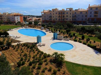 The apartment is located on the largest pool & garden area of the resort.