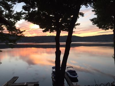 Photo for Lake Side Cottage With Private Dock, Copake Lake, NY