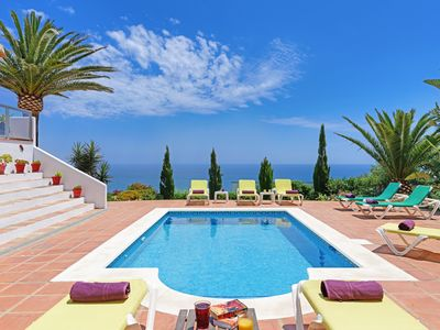 Photo for Breathtaking Panoramic Views Gorgeous villa, private pool, Punta Paloma