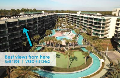 Gorgeous top floor / 5th floor views of both the pool area and Perdido Key !