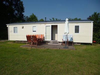 Photo for Luxury mobile home on our beautiful, child-friendly (small) camping Boszicht