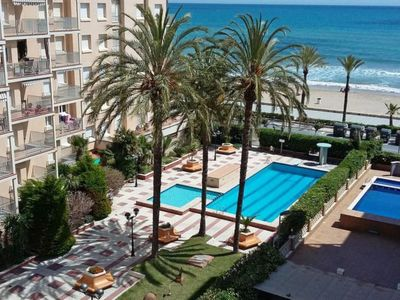 Photo for 3 bedroom Apartment, sleeps 8 with Pool and Walk to Beach & Shops