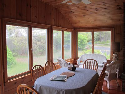 Sun Room/Porch with vaulted ceiling