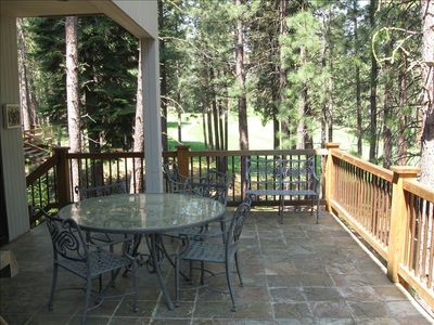 deck overlooking 1st fairway of GlazeMeadow golf course
