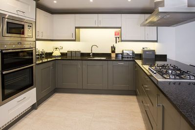 Fully stocked kitchen with everything you need for large groups