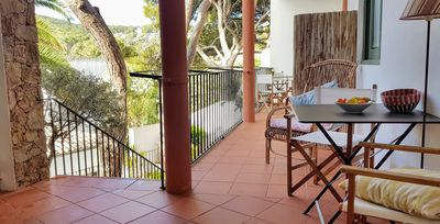 Photo for Tamariu 1- Cozy and quiet apt 50m from the beach! Free wifi + terrace