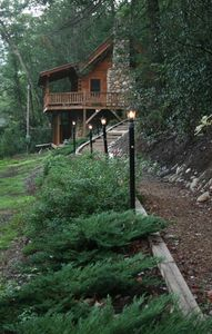 Photo for Log Cabin - Directly on the South Toe River