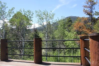 View of Palisades off deck