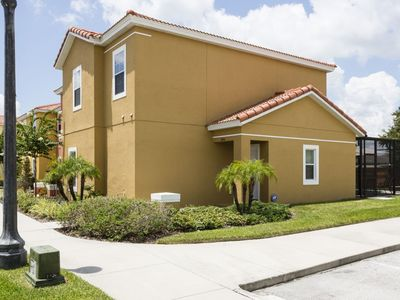 Photo for Lovely 4 bedroom, 3 bathroom townhome with private pool located in a gated resort community of Bella Vida.