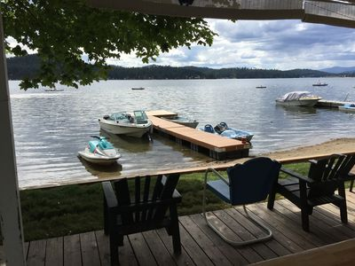 Photo for Lovely Family Waterfront Cabin On Loon Lake. Beach, Lawn And Amazing Sunsets!