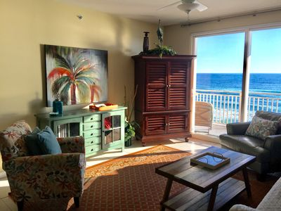 Gulf front Splash Resort Condo with four pools.  Directly on the beach.
