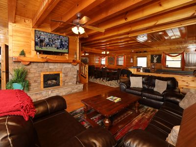 Photo for This beautiful lodge comfortably sleeps 18 and offers four master suites.