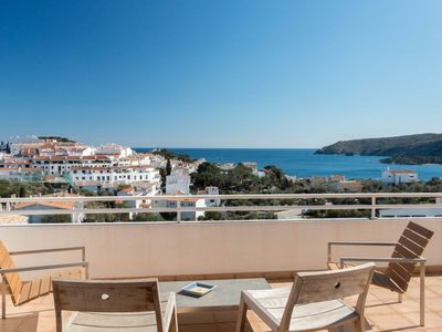 Photo for 101.21_Exclusive attic with views of the sea and the town of Cadaqués.