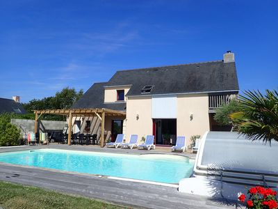 Photo for Sea and Nature in peace, 11/14 pers., beach at 600m, heated private pool 10X5