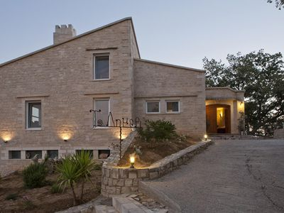 Photo for Stone Built villa Limeri, with private pool+BBQ+Shaded Patio.15km to town-beach