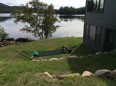 Lake view from side yard