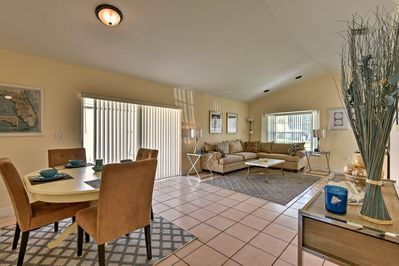 Up to 6 guests can enjoy over 1,400 square feet of tastefully furnished space.