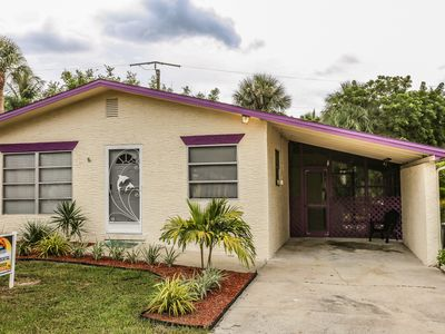 Photo for 215 Fairweather is the perfect location for this cozy two-bedroom, one bath room Florida home with a screened in lanai located on Fort Myers Beach.
