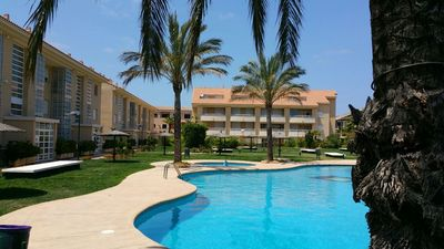 Photo for Javea Golden Beach 2 Apartment with 60m2 terrace, one level, WIFI, Arena