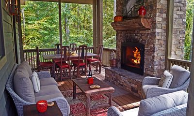 Imagine yourself here - screened porch, a great spot year-round.